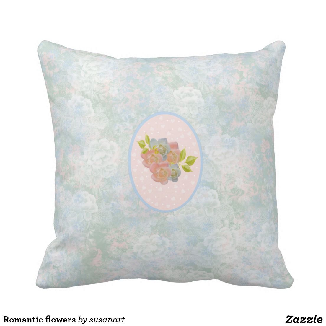 Romantic flowers pillows