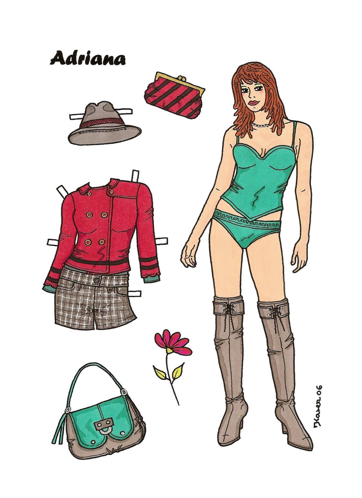 Karen`s Paper Dolls: Adriana