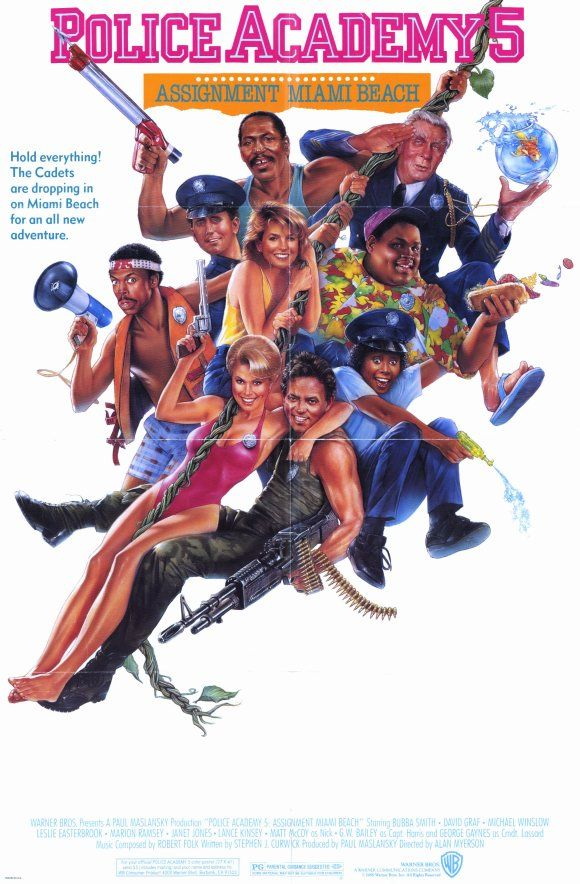Police academy 5 debaquement à Miami Beach 1988