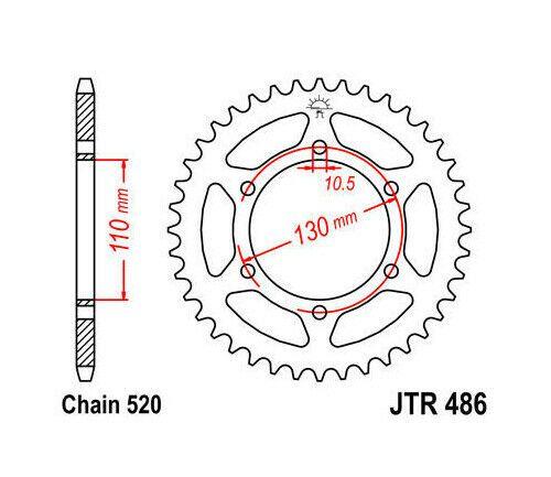 (Advertisement eBay) JT Steel Rear Sprocket 520 41T