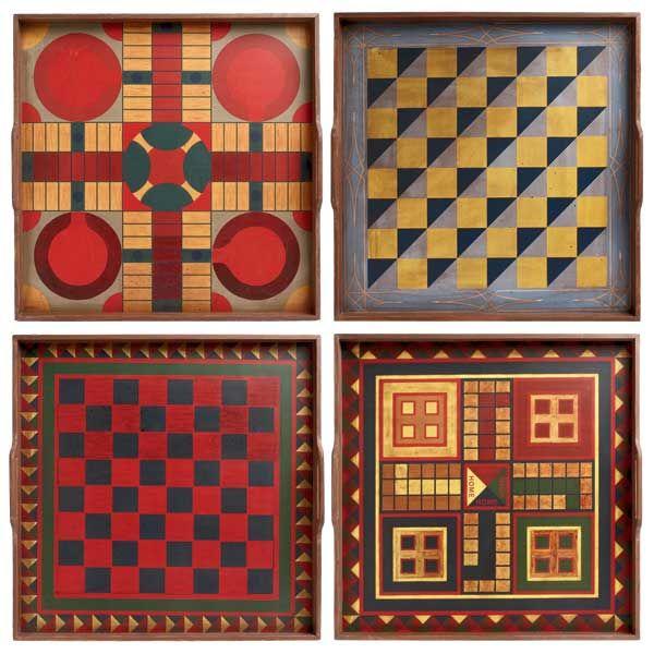 Folk Art Game Boards