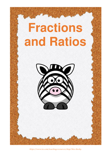 Fractions Ratio Worksheet Personalised Worksheets Secondary