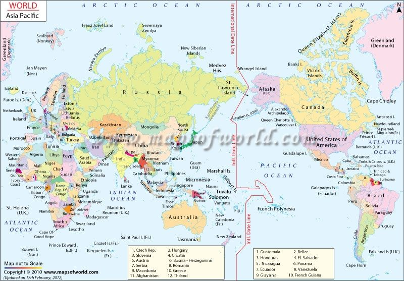 Map Of The Asia Pacific.Asia Pacific Map Asia Pacific Countries World Map Pacific 800 X 557