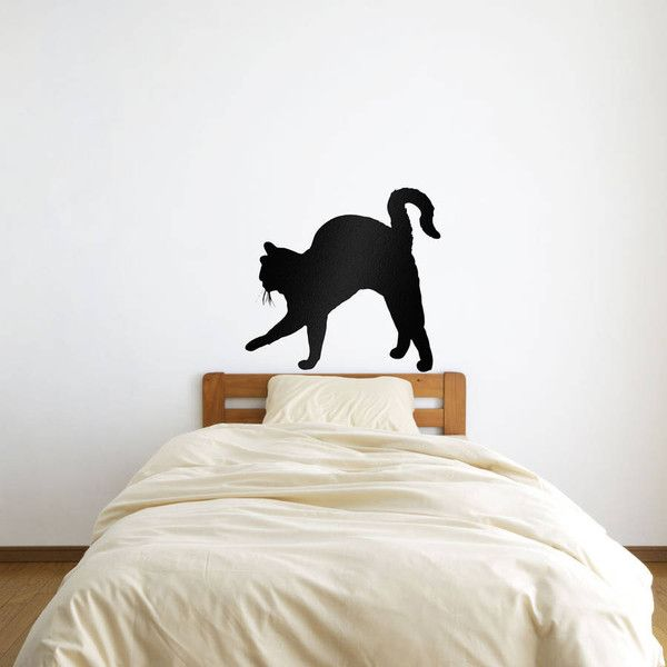 Vinyl Revolution Cat Stalking Wall Art Decal ($22) ❤ liked on Polyvore featuring home, home decor, wall art, vinyl home decor, vinyl decal sticker, vinyl decals, vinyl wall art and cat home decor
