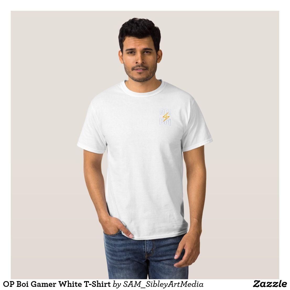 OP Boi Gamer White T-Shirt