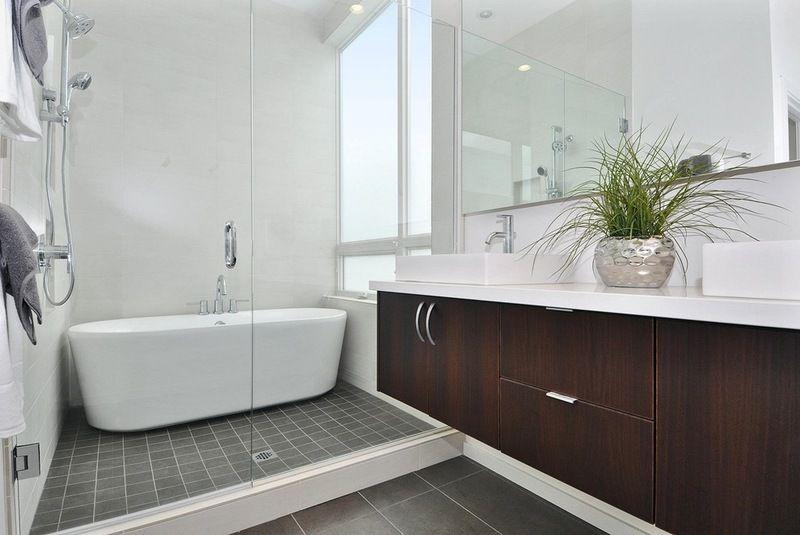Modern bathroom by elemental design llc zo slim bad in douche
