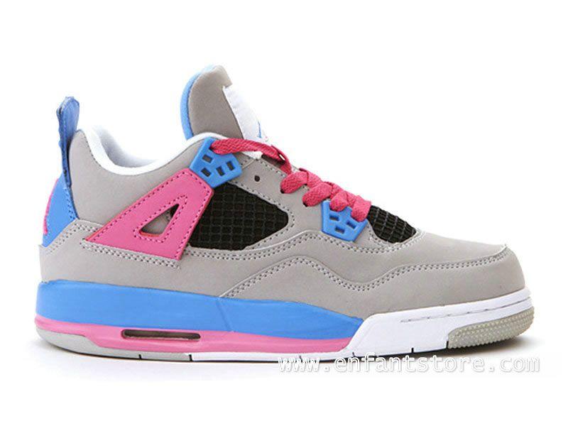 Store Air Jordan 4/V Retro Junior Chaussures Pour Fille Gris boutiquetn360