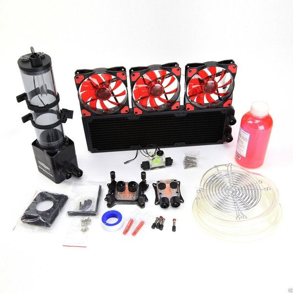 Us 206 03 20 Pc Liquid Cooling 360 Radiator Kit Pump 220mm Reservoir Cpu Gpu Heat Sink Red Computer Components From Computer Networking On Banggood