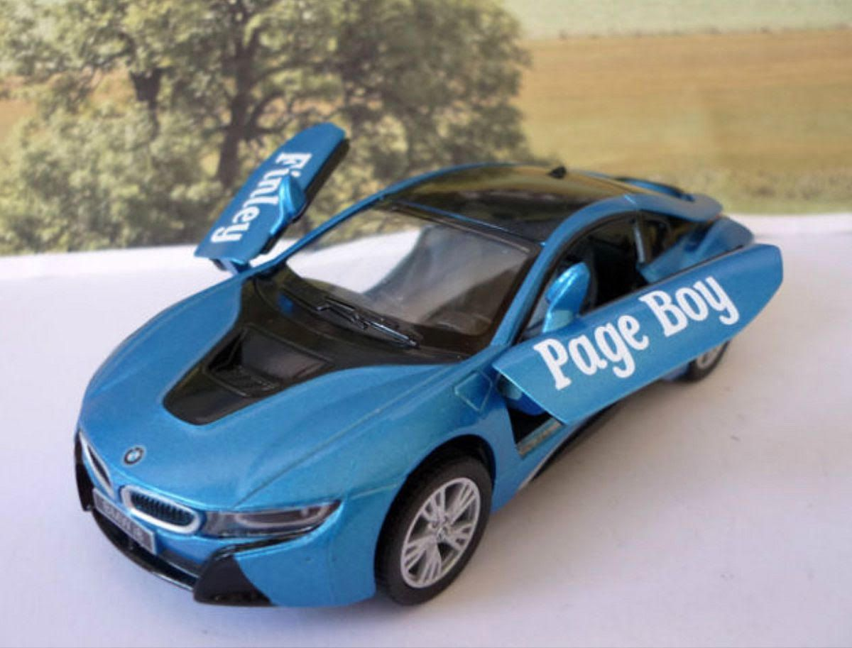 Wedding Day Car Gift Page Boy Blue Bmw I8 Boys Toy Model Wedding