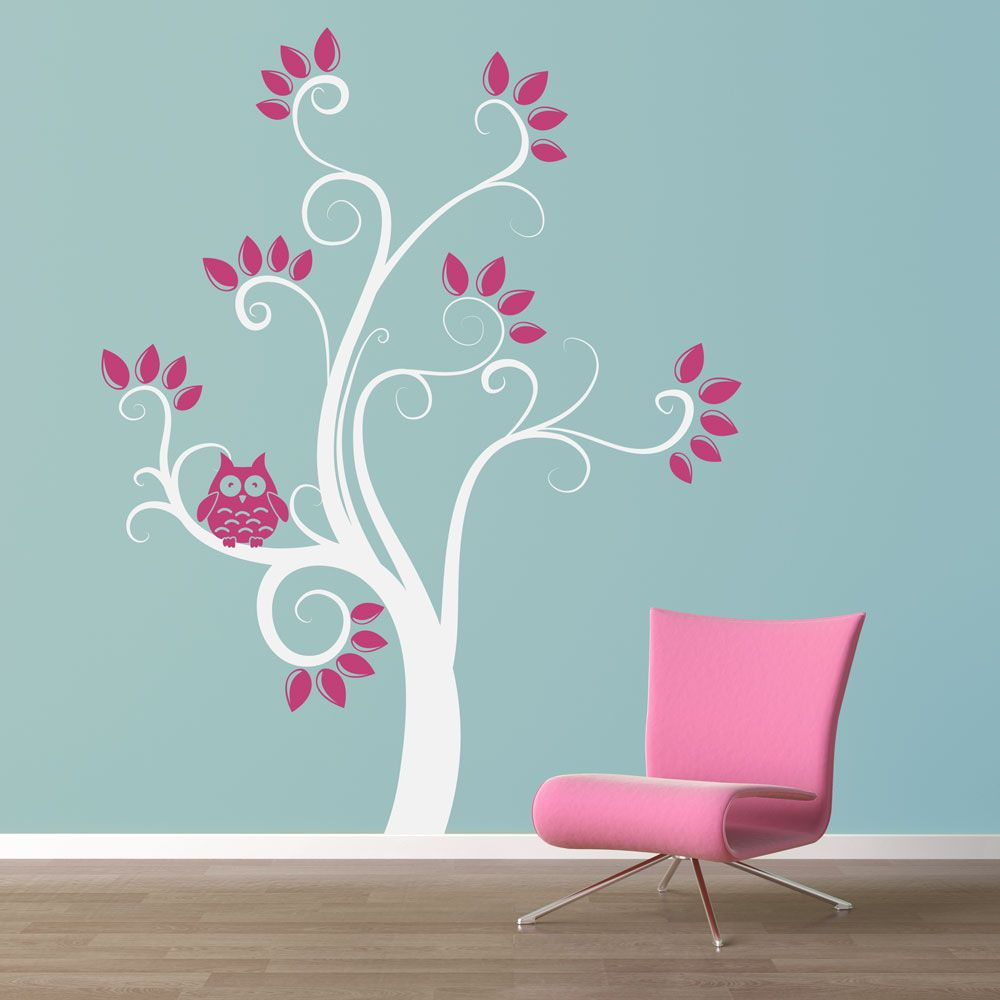 Swirly Owl Tree Wall Decal   This Site Has Excellent Quotes For Walls