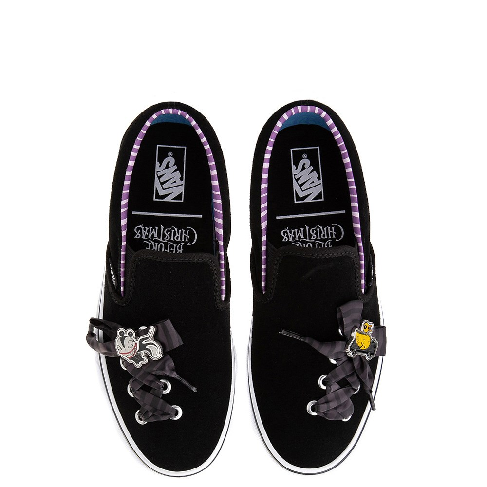 Vans X The Nightmare Before Christmas Slip On Haunted Toys Skate Shoe Black Journeys Skate Shoes Vans Black Shoes
