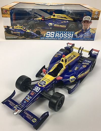 Racing-Indy 1228: 1 18 Scale 2016 Greenlight Alexander Rossi Indy 500 100Th Running Winner -> BUY IT NOW ONLY: $64.95 on eBay!
