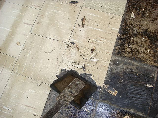 How Funny Those Are Even The Same Tiles On My Floor Asbestos Floor Tile Removal Http Www Bmfremovals Co Uk A Tile Removal Asbestos Asbestos Removal