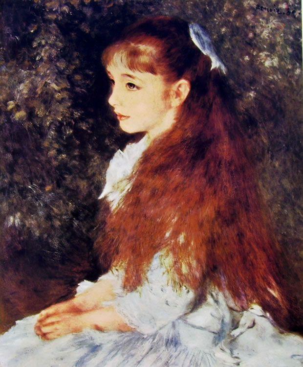 Una DONNA IN GIARDINO impressionismo Fiori Fiori Auguste Renoir a2 LW 16