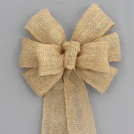 14 rustic christmas tree topper burlap bows ideas