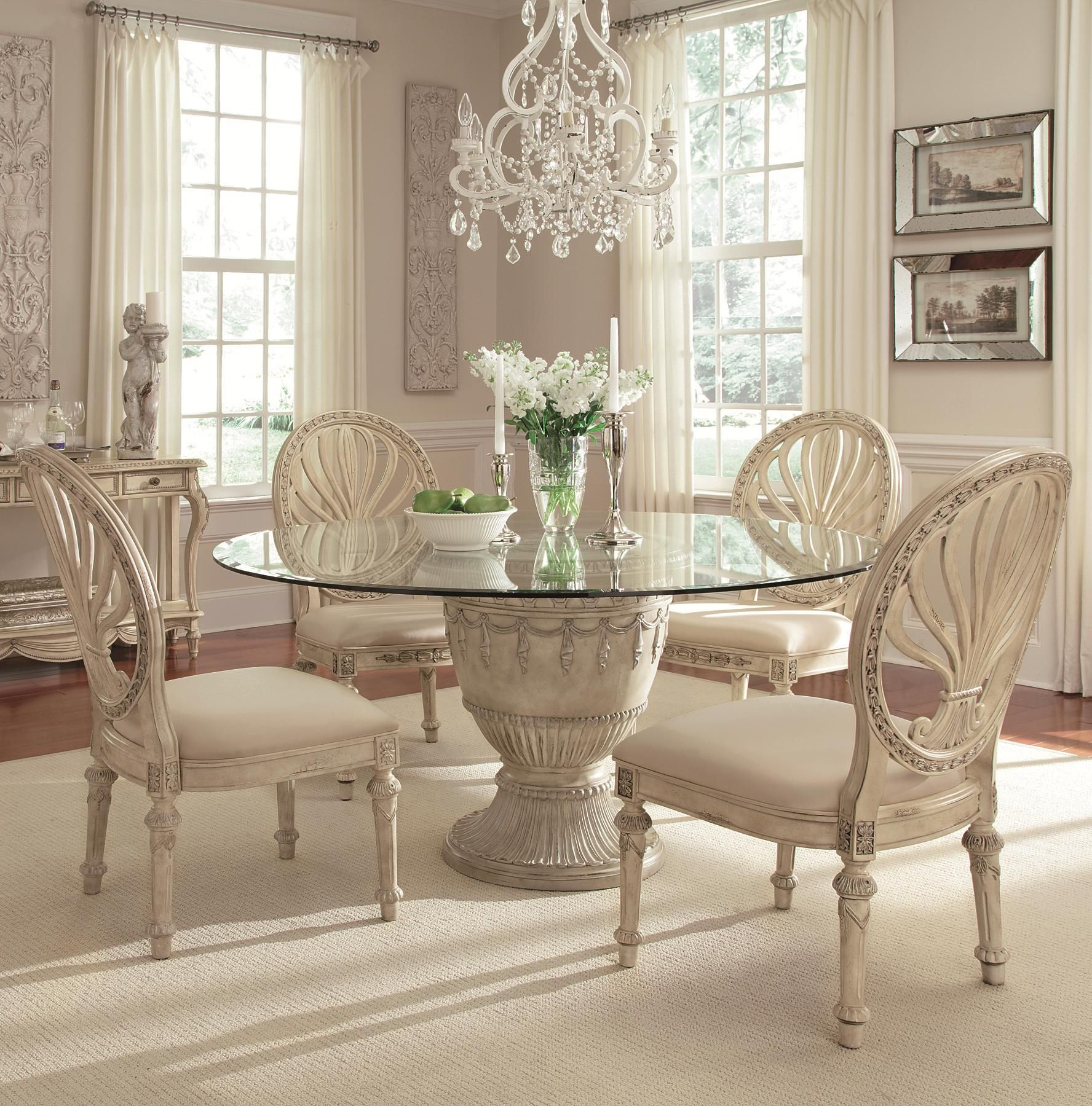 Room Empire II 5 Piece Round Table Dining Set By Schnadig