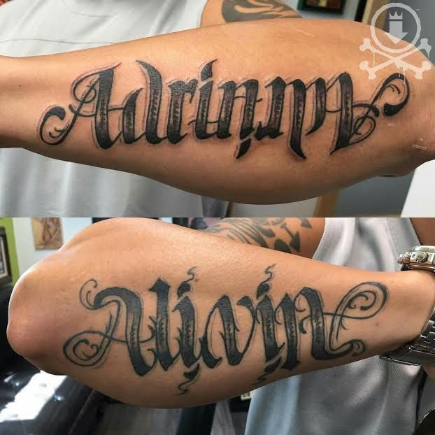 Lettering Alex Name Tattoo Designs
