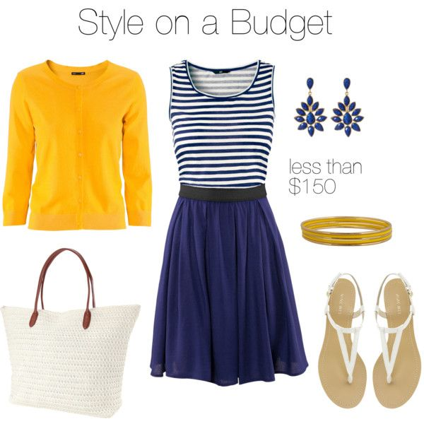 """Navy and Bright"" by bluehydrangea on Polyvore"