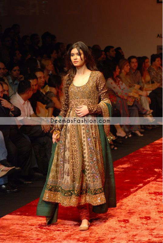 Pakistani Designer Collection Multi Pishwas Dress