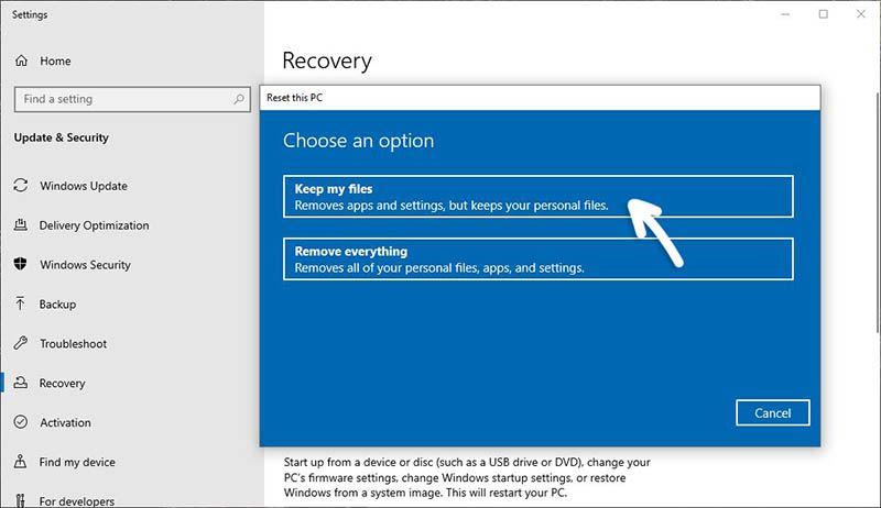 Cara Reset Windows 10 8 7 Seperti Baru Tanpa Menghapus Data