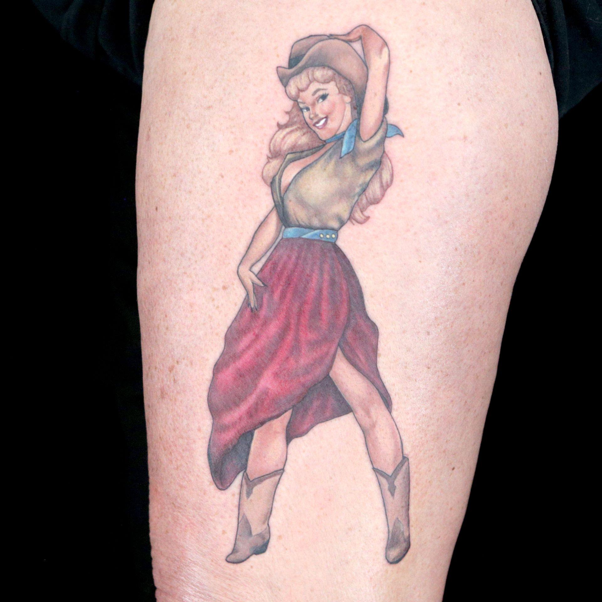 Pinup Tattoo by Pinz & Needlez (Jessy Knuckles & Allisin ...