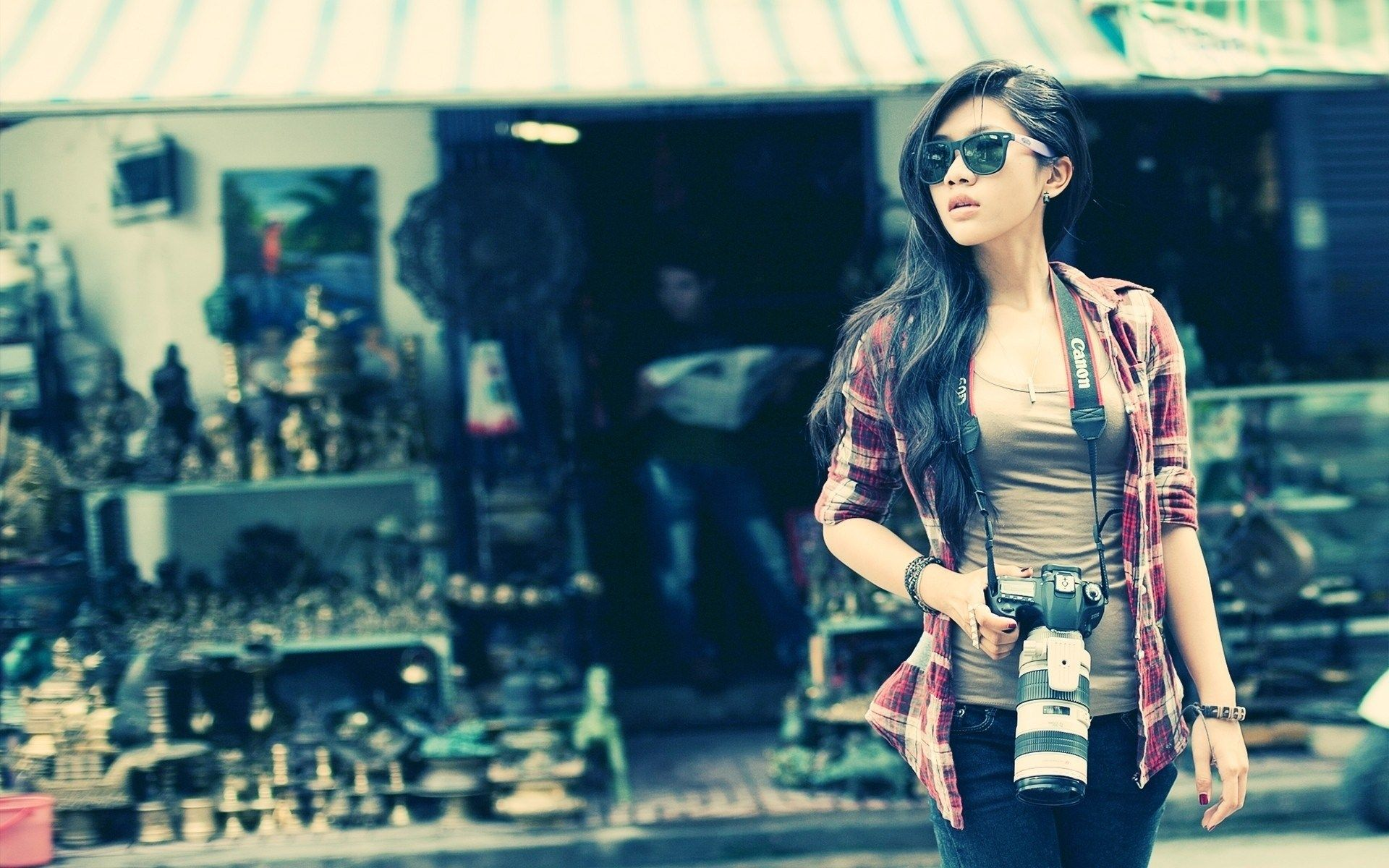Beautiful Girl Tele Lens On Canon Dslr Wide Hd Wallpaper Cool