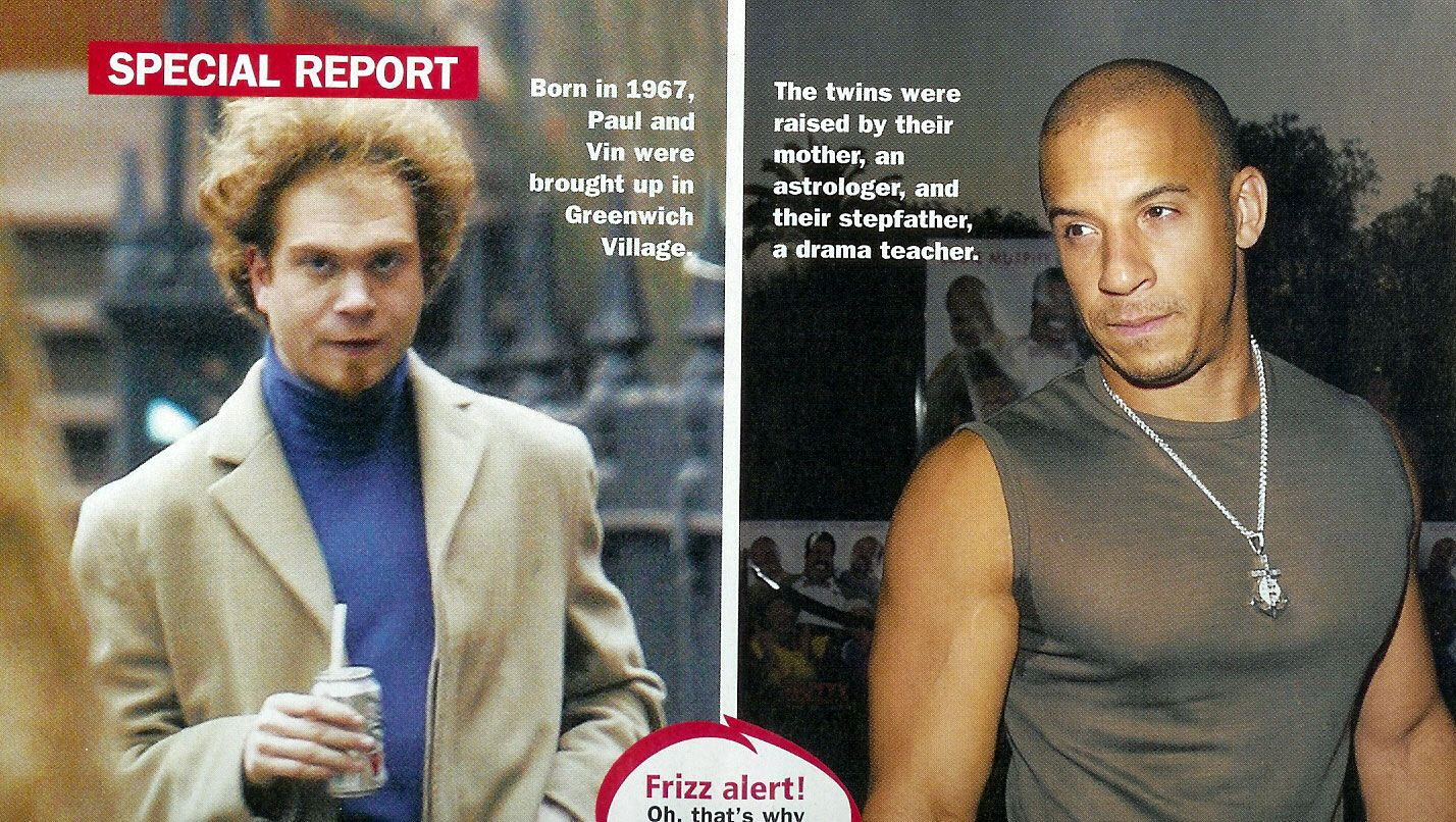 Paul and mark vincent sinclair actor vin diesel fraternal twin brothers