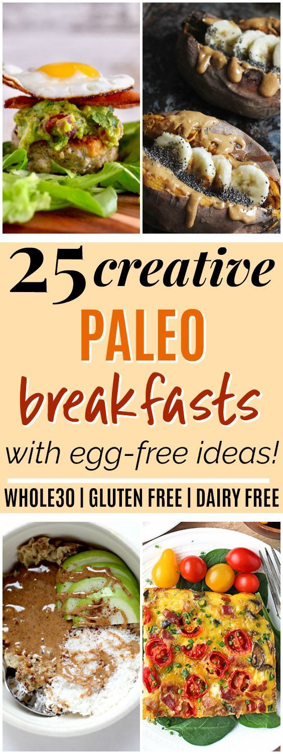 25 Whole30 & Paleo Breakfast Ideas 25 Creative Whole30 & Paleo Breakfast Ideas | These Whole30 and Paleo breakfast ideas look SO good! I've been needing to mix up my breakfast, and love that these recipes all include fruit and veggies! Plus, they're all gluten-free, grain-free, dairy-free, and refined sugar-free. I love that there are egg-free recipes too. Definitely pinning!