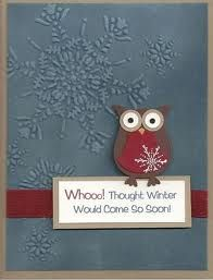 SU owl punch card - owl