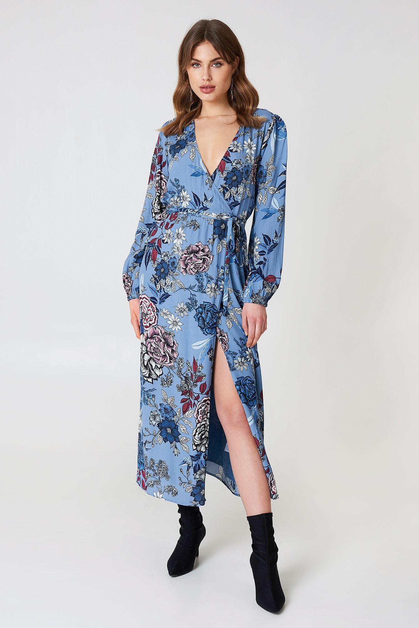 128a85b88a00 GESTUZ BEGONIA WRAP DRESS - BLUE. #gestuz #cloth # | Gestuz | Wrap ...