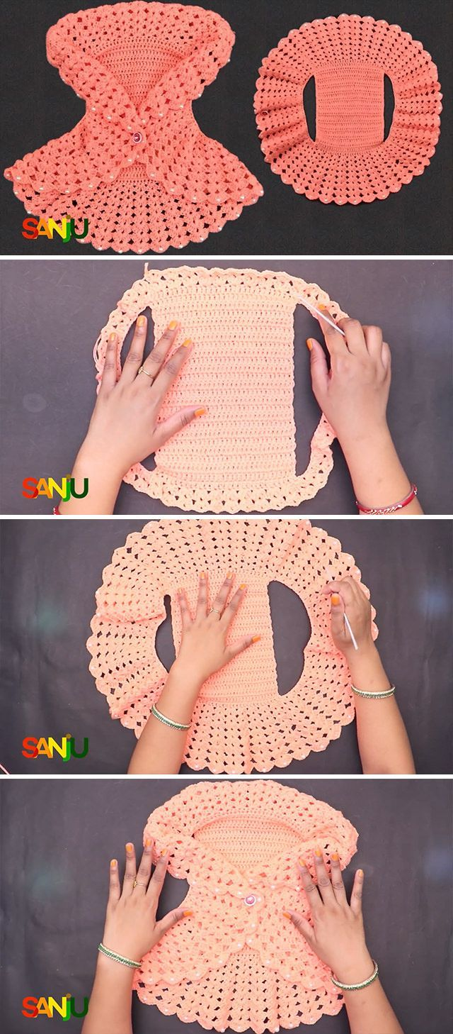 Photo of How To Crochet Baby Sweater For Beginners | CrochetBeja,  #Baby #beginners #Crochet #CrochetB…