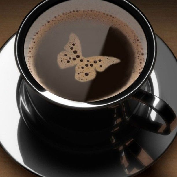 """#coffee #hot #drink #butterfly #pattern #pretty #cute"""