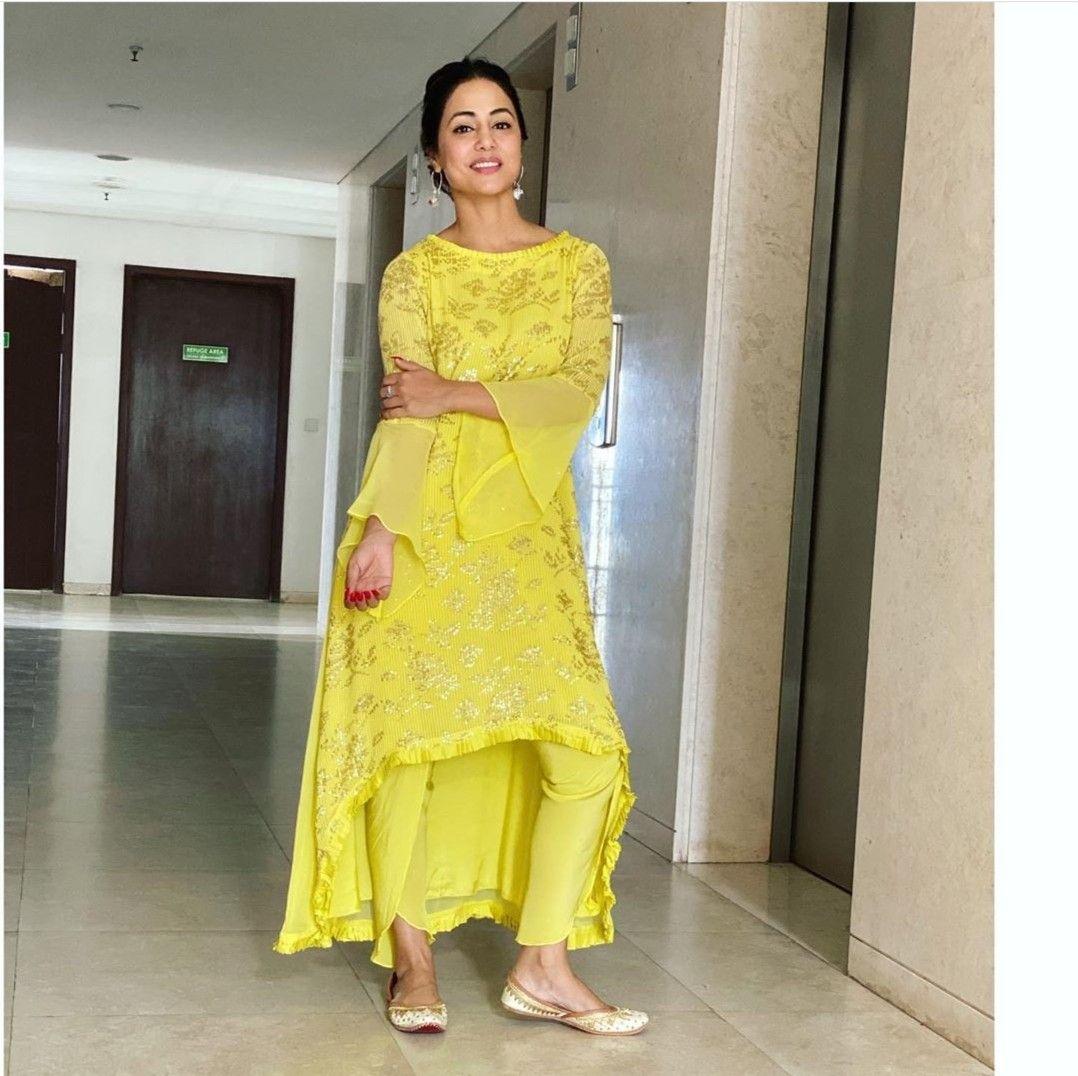 Hina Khan   Outfits, Indian wear, Desi