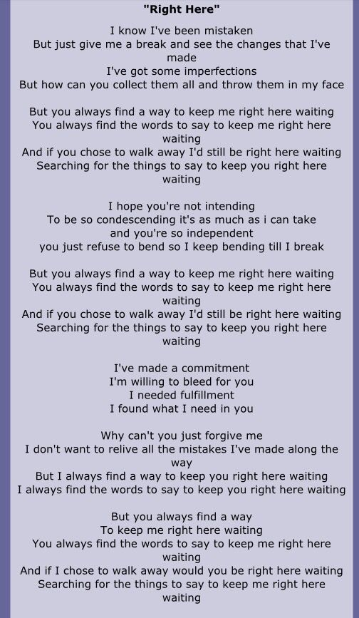 Right Here Staind And He Lied Here Lyrics Staind Lyrics