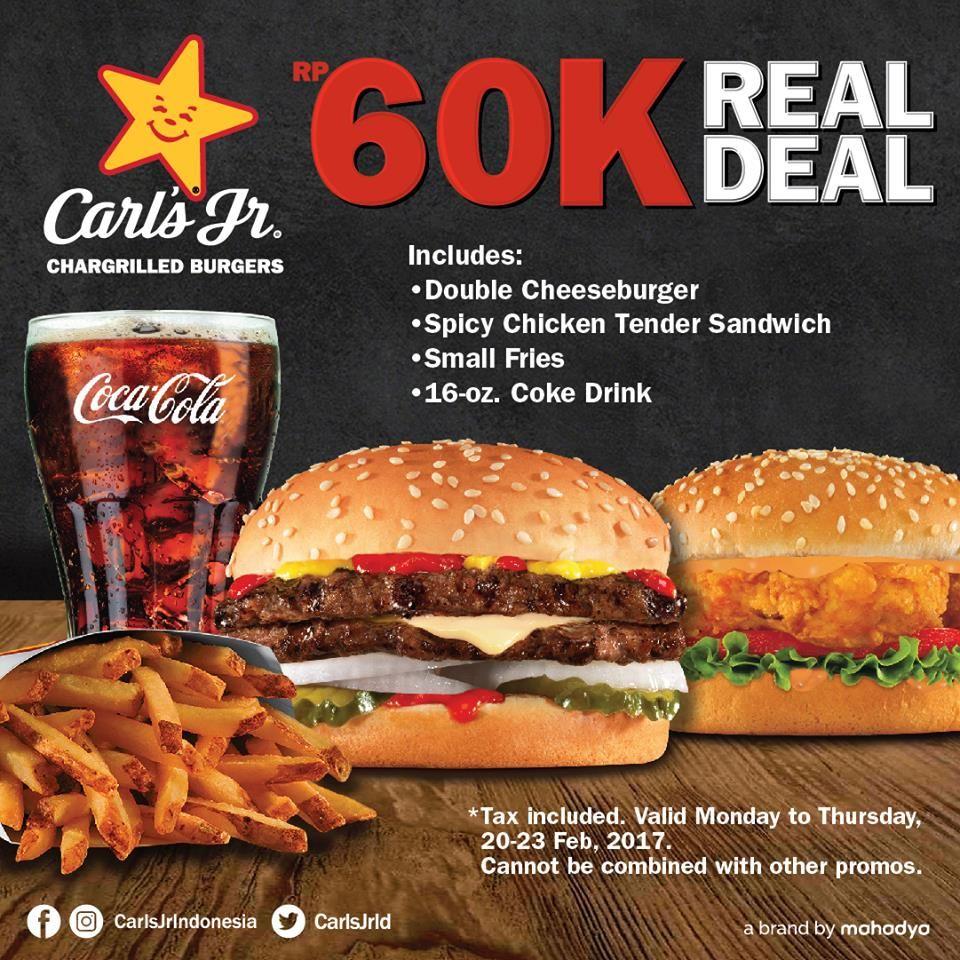 Carls Jr Promo Menu Hemat Real Deal http//www.perutgendut