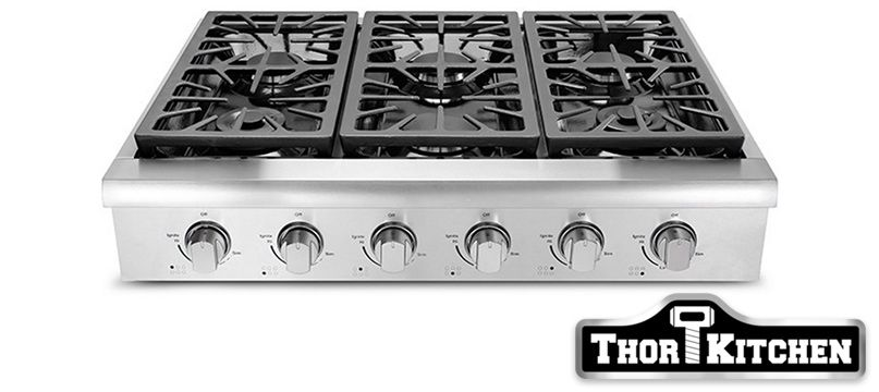 Thor Kitchen 36 Inch Wide Gas Professional Cooktop Range