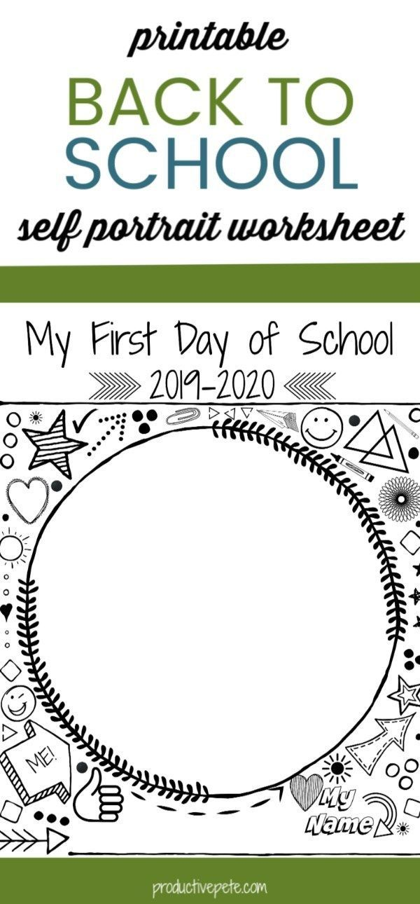"""First Day of School Self Portrait Printable -  This First Day of School Self Portrait Printable is a great """"Back to School Tradition"""" to start - #bestfood #dateideas #day #deacon #firstdaykindergarten #howtobeassertive #photomug #portrait #Printable #School #welcomehome #workoutaftercsection"""