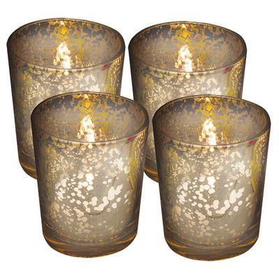 Loon Peak Rustic Small Mercury Glass Votive Holder Wayfair Glass Votive Glass Votive Candle Holders Glass Votive Holders