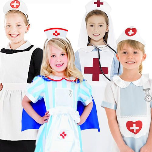 Scrub Nurse Ladies COSTUME+TIGHTS+STETHOSCOPE Uniform Hospital Fancy Dress