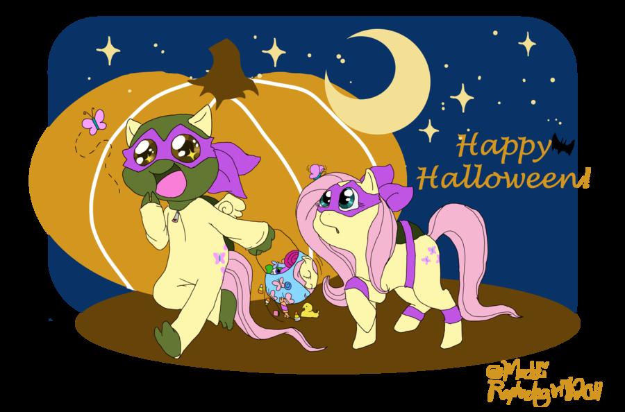 Halloween2011-Turtles'n'Ponies by Raphaelsgirl.deviantart.com on @deviantART