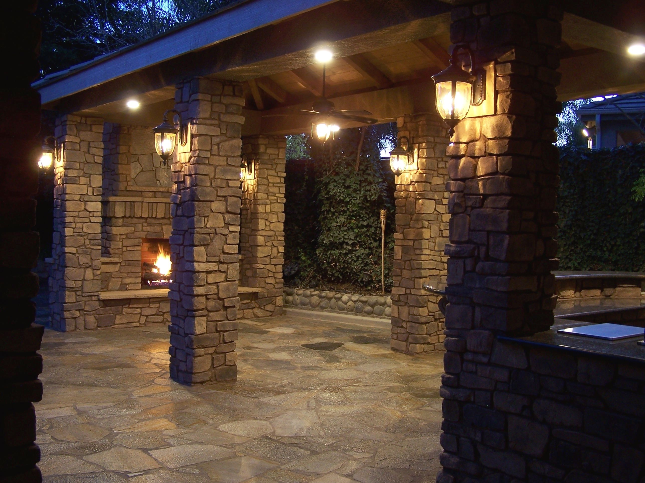 outdoor living at its finest outdoor stone fireplace stone columns