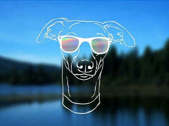 Whippet Decal Greyhound Italian Greyhound Dog Vinyl by ShadedLove