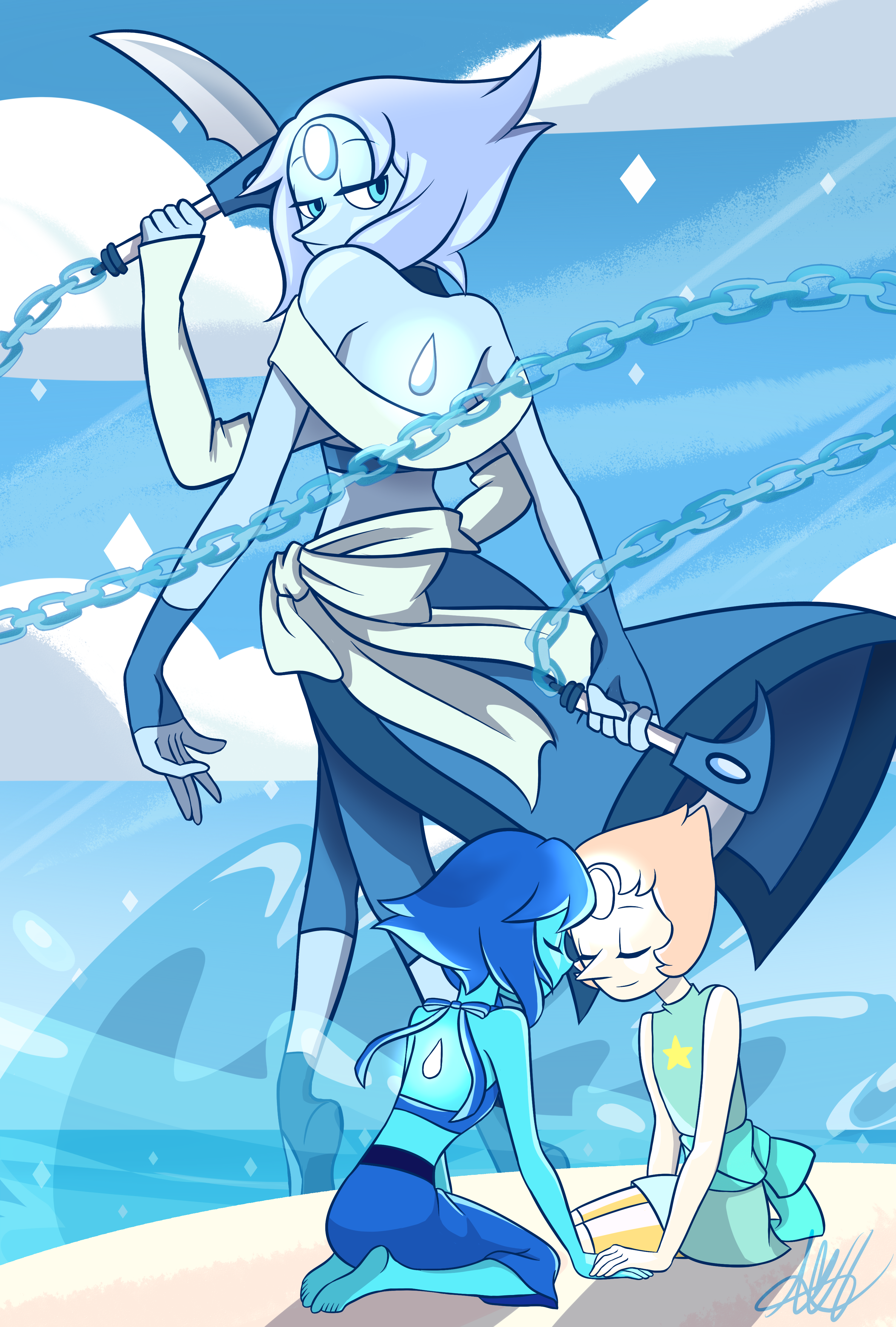 Moonstone Fanfusion - Lapis Lazuli and Pearl | Steven Universe | Know Your Meme