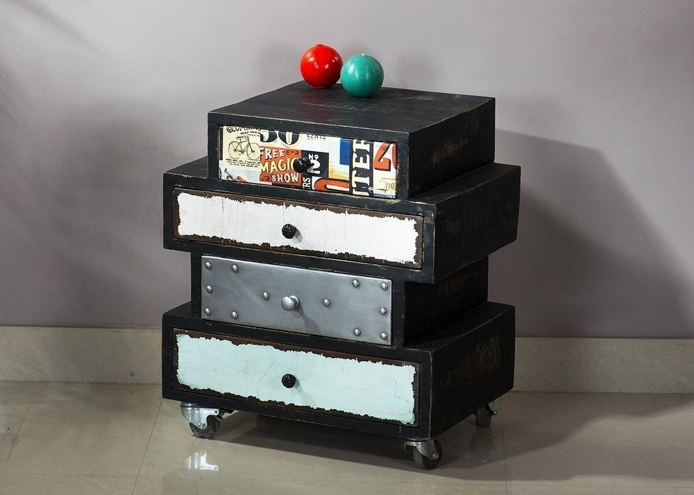 Kommode Antwerp Mango und Metall Antik 9500. Buy now at https://www.moebel-wohnbar.de/kommode-antwerp-mango-und-metall-antik-9500.html