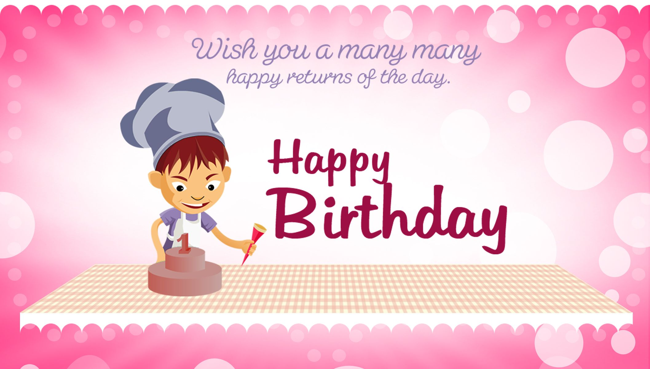 Wish You Very Happy Birthday Wishes Greeting Card Download – Wish Birthday Card