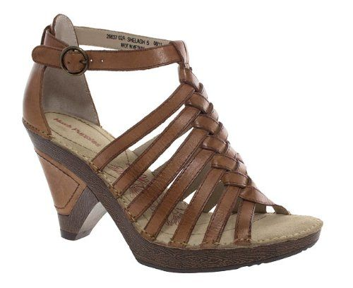 Hush Puppies Womens Ladies Tan Leather High Heel Strappy Wedge Sandals Amazon Co Uk Barratts Shoes Strappy Sandals Wedge Leather High Heels Women Shoes