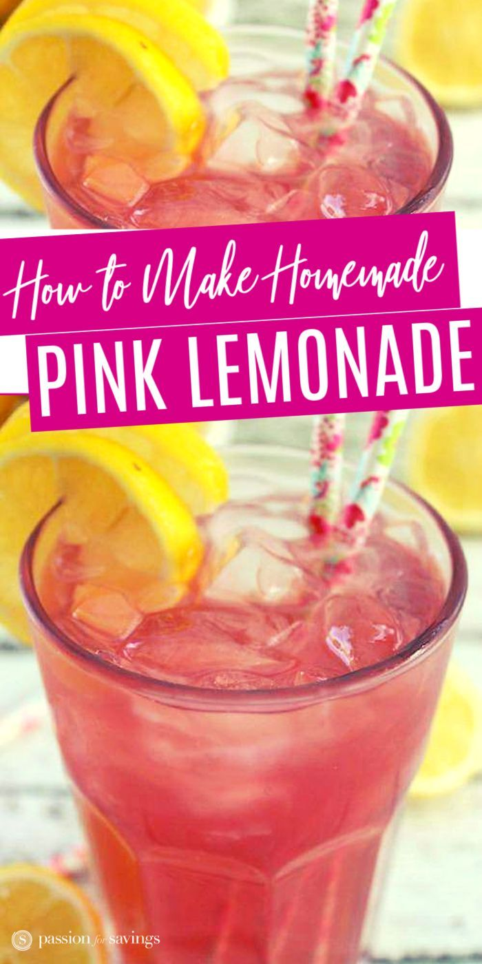 Homemade Pink Lemonade Recipe!