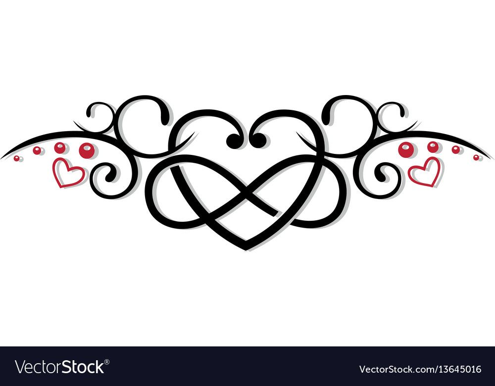 Download Infinity heart love vector image on | Love symbols, Tattoo ...