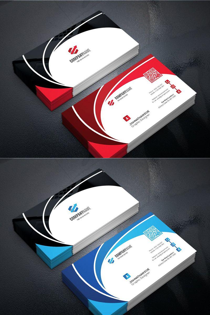 Curvy Business Card Corporate Identity Template 95991 Business Cards Corporate Identity Free Business Card Design Templates Graphic Design Business Card