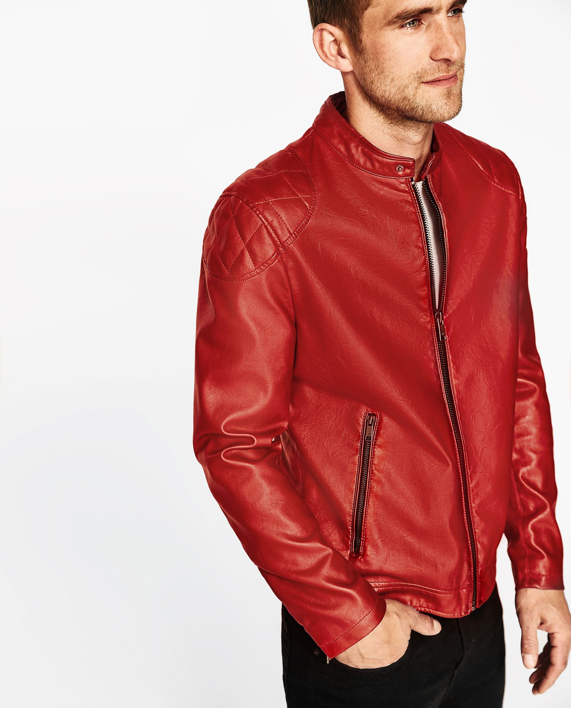 6765a182 Men's Jackets | Summer Sale 2017 | ZARA United States Red Leather, Leather  Jacket,